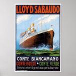 SS Conte Biancamano - Vintage Ship Advertisement
