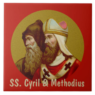 SS. Cyril & Methodius (M 001) Ceramic Ceramic Tile