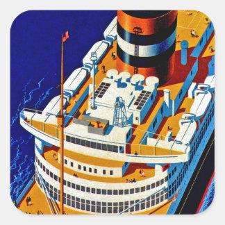 SS Nieuw Amsterdam Square Sticker