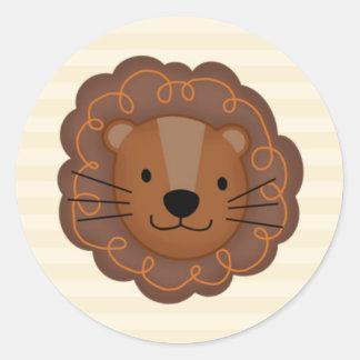 SS Noah / Noah's Ark Baby Shower Envelope Seal Round Sticker