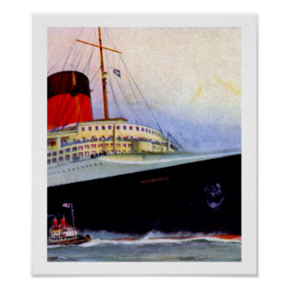 ss Normandie Forecastle Poster