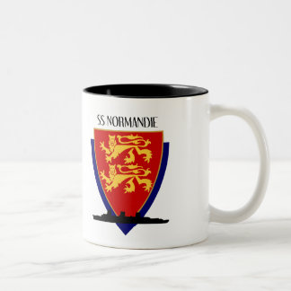 SS Normandie Two-Tone Coffee Mug