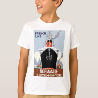 SS Normandie Vintage Poster T-Shirt