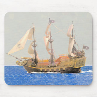 SS Pirates Ship Watercolor Mouse Pad