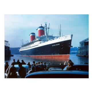 SS United States 1957 Postcard