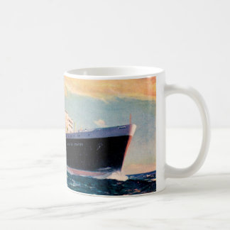 ss United States at Sea Basic White Mug