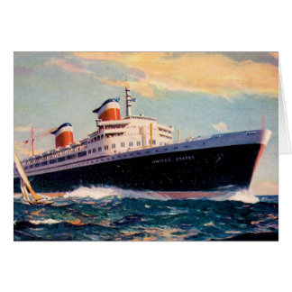 ss United States at Sea Greeting Card