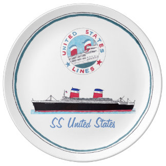 SS United States - Collectible Porcelain Plate