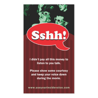 Sshh! Pack Of Standard Business Cards