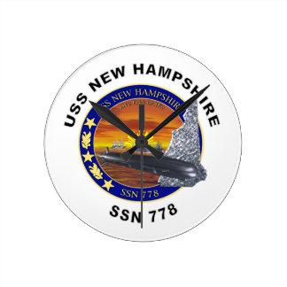 SSN 778 USS New Hampshire Wallclock