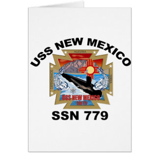 SSN 779 USS New Mexico Card