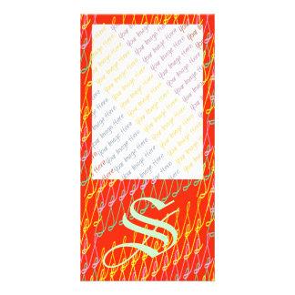 SsParade Orange Glow Photo Card