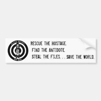 SSSG Case Files Sticker Bumper Sticker