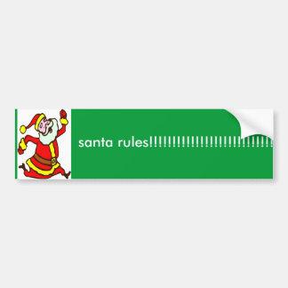 sssssssssssssssssssssssssssssss, santa rules!!!... bumper sticker