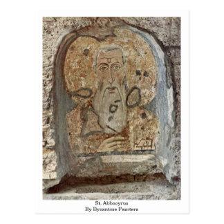 St. Abbacyrus By Byzantine Painters Postcard