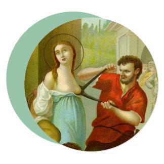 """St. Agatha (M 003) 5.25""""x 5.25"""" Circular Card"""
