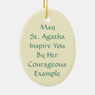 St. Agatha (M 003) Ceramic Ornament
