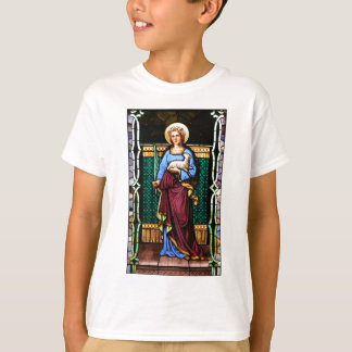 St Agnes of Rome, holding lamb and palm leaf T-Shirt