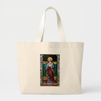 St Agnes of Rome, holding lamb and palm leaf Jumbo Tote Bag