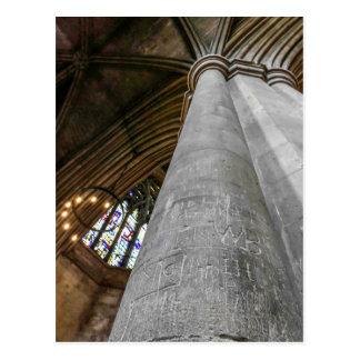 St. Albans Abbey, interior. Postcard