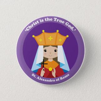 St. Alexandra of Rome 6 Cm Round Badge