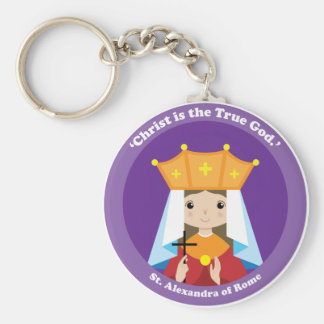 St. Alexandra of Rome Basic Round Button Key Ring