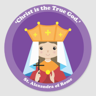 St. Alexandra of Rome Classic Round Sticker