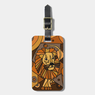 ST- Amazing Lion Abstract Art Design Luggage Tags