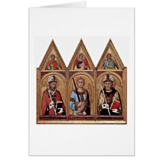 St.Ambrose St.Augustine By Simone Martini Card