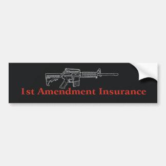 !st Amendment Insurance Bumper Sticker