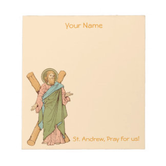 "+St. Andrew the Apostle (RLS 01) 5.5""x6"" Notepad"