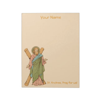 "St. Andrew the Apostle (RLS 01) 8.5""x11"" Notepad"