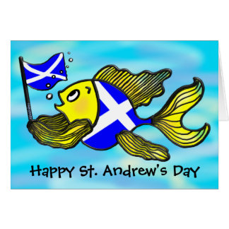 St. Andrew's Day GREETING CARD funny cartoon