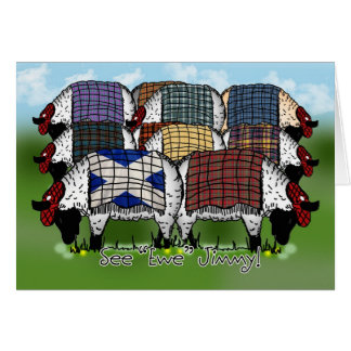 St. Andrew's Day Sheep - See Ewe Jimmy Card