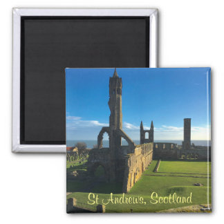 St Andrews Scotland Cathedral Ruins Photo Magnet