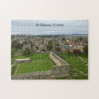 St Andrews Town Aerial View from Cathedral Tower Jigsaw Puzzle