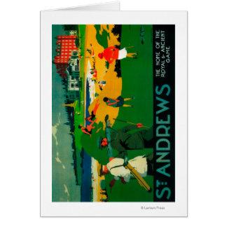 St. Andrews Vintage PosterEurope Card