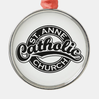 ST. ANNE Catholic Church Black Ornament