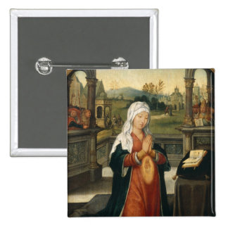 St.Anne Conceiving the Virgin 15 Cm Square Badge