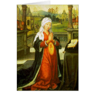 St. Anne Conceiving the Virgin Mary. Card