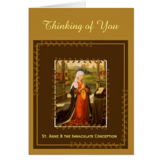 St. Anne & Immaculate Conception Mary Card
