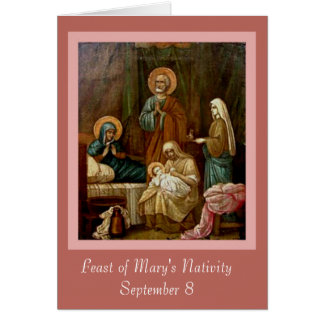 St. Anne Joachim Nativity of VIrgin Mary Card