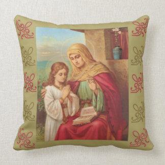 St. Anne Virgin Child Mary Grandmother Cushion