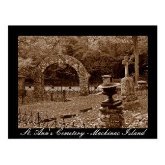 St. Ann's Cemetery - Mackinac Island Postcard