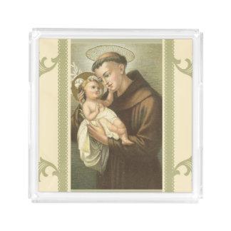 St. Anthony of Padua Baby Jesus Acrylic Tray