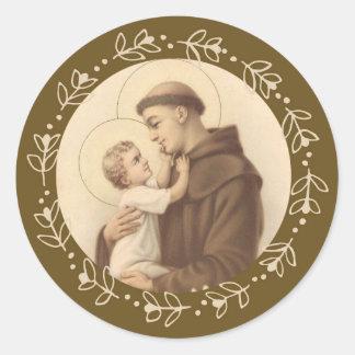 St. Anthony of Padua Baby Jesus Classic Round Sticker