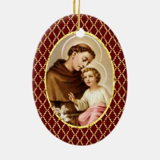 St. Anthony of Padua Ceramic Ornament