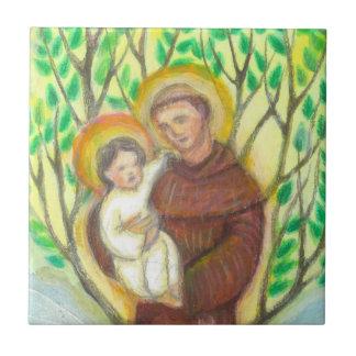 St Anthony of Padua Ceramic Tile