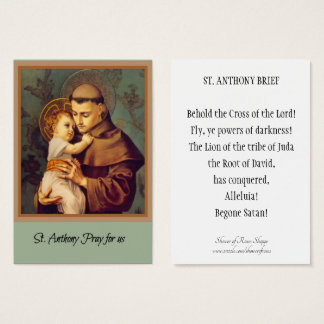 St. Anthony of Padua Holy Cards