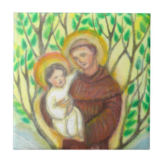 St Anthony of Padua Small Square Tile